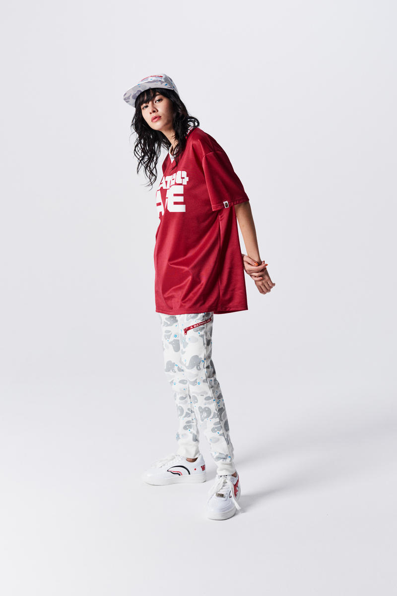 A Bathing Ape Spring Summer 2019 Collection T-shirt Red Camo Pants White Blue