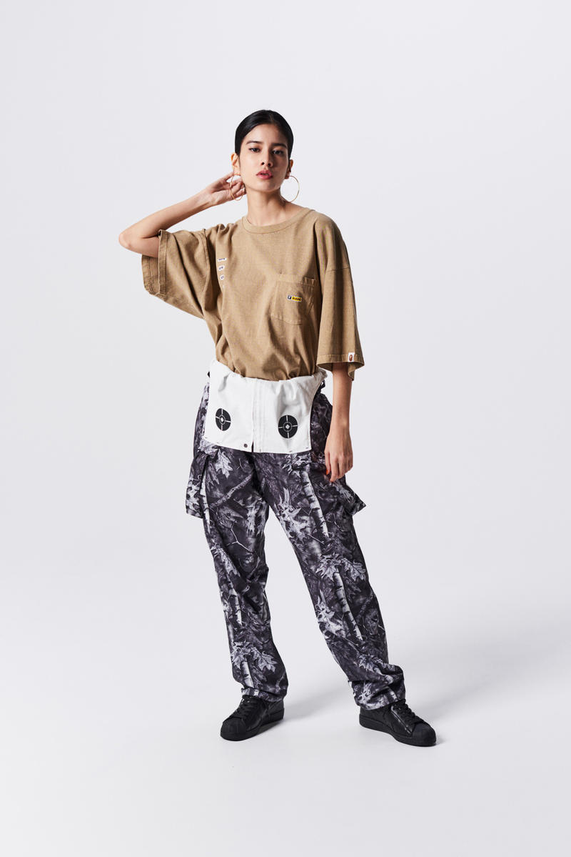 A Bathing Ape Spring Summer 2019 Collection Lookbook Shirt Tan Camo Pants Brown Black