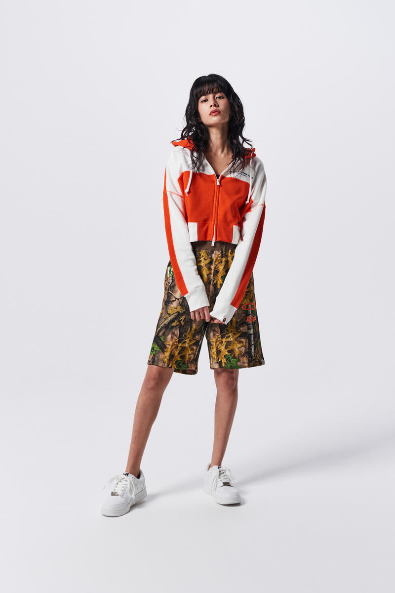 A Bathing Ape Spring Summer 2019 Collection Lookbook Long Sleeved Shirt Orange White Shorts Brown