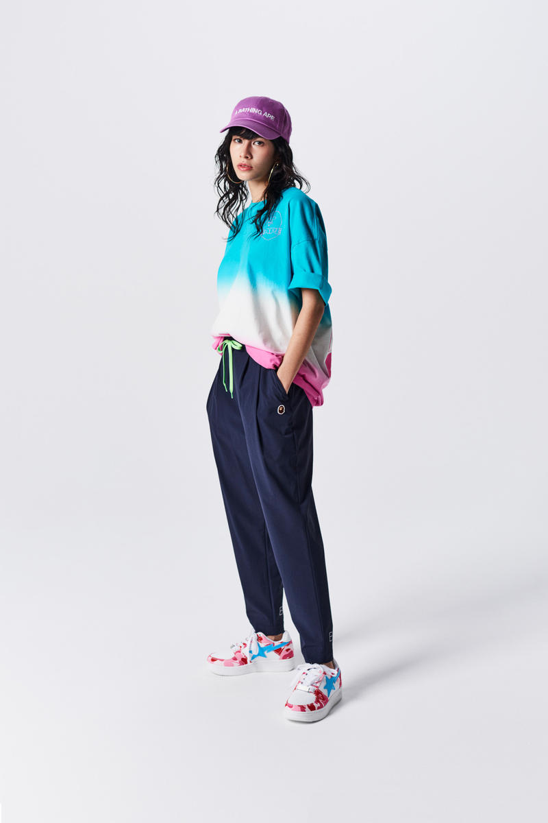 A Bathing Ape Spring Summer 2019 Collection Lookbook Shirt Teal Pants Blue