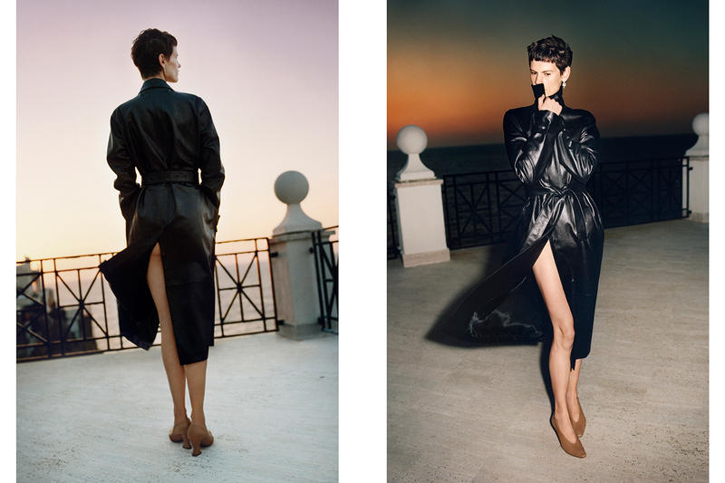 Bottega Veneta Spring 2019 SS19 Campaign Daniel Lee Tyrone Lebon Old Celine Designer leather calf black trench coat