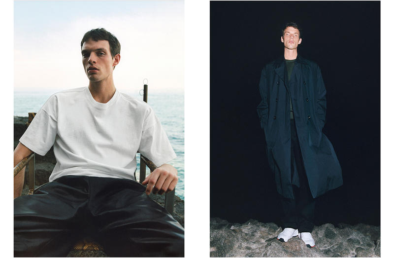 Bottega Veneta Spring 2019 SS19 Campaign Daniel Lee Tyrone Lebon Old Celine Designer men leather pants navy blue coat white t-shirt