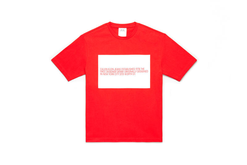 CALVIN KLEIN JEANS EST. 1978 Delivery 2 Drop 02 T-shirt Red White
