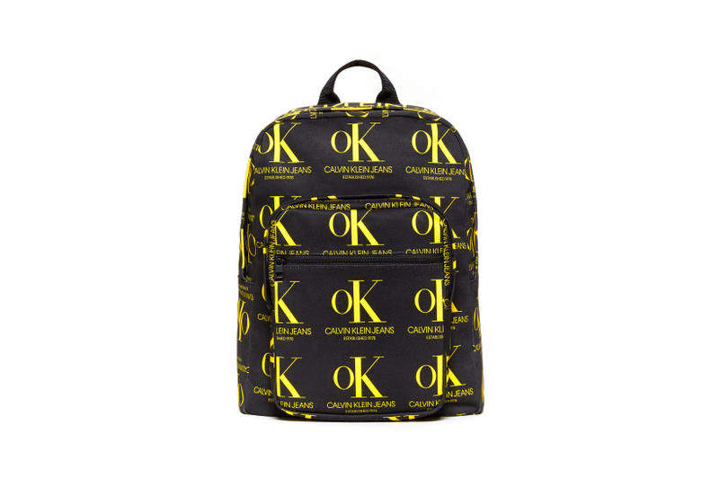 CALVIN KLEIN JEANS EST. 1978 Delivery 2 Drop 02 Backpack Black Yellow