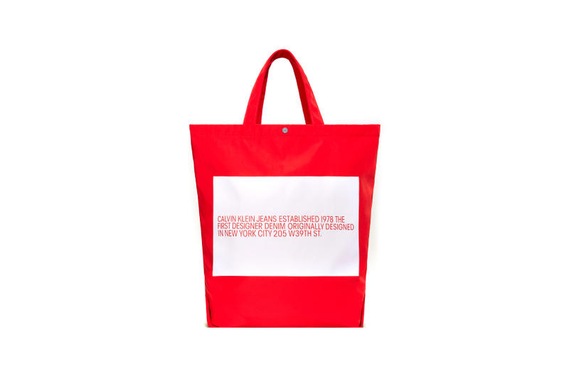 CALVIN KLEIN JEANS EST. 1978 Delivery 2 Drop 02 Tote Red