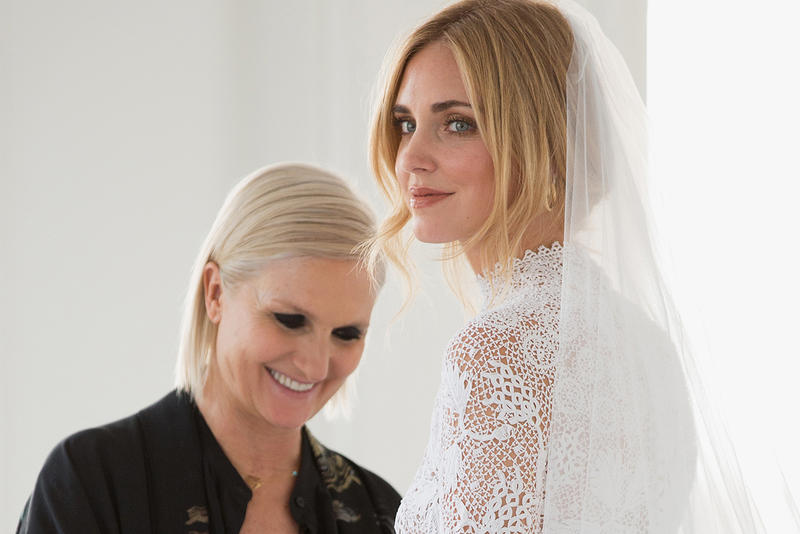 Chiara Ferragni Wedding 2018 Christian Dior Dress Maria Grazia Chiuri Designer Fashion Influencer