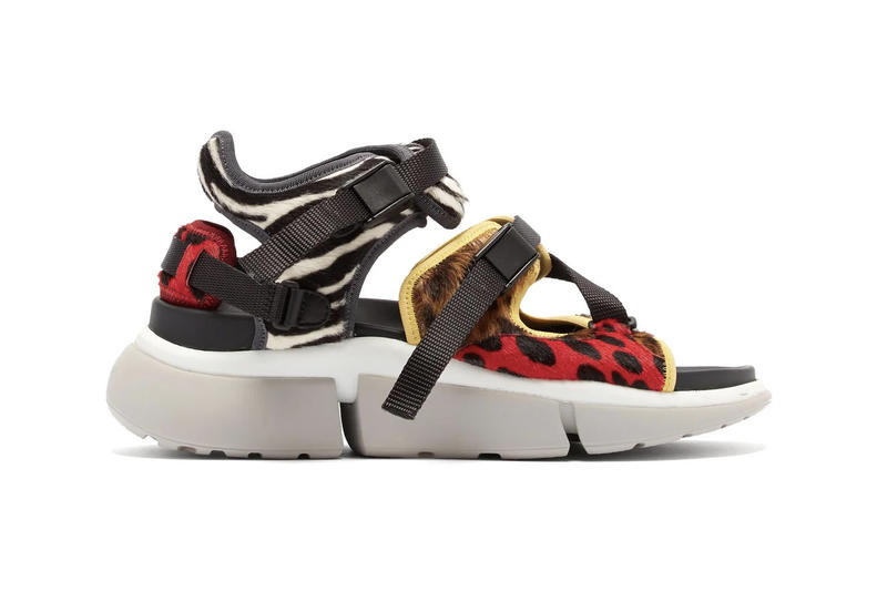 Chloé Calf Hair Chunky Sneaker Trainer Sandals Leopard Zebra Print
