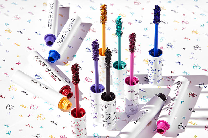 Colourpop bff mascara black makeup cosmetics beauty colors pink purple teal yellow blue