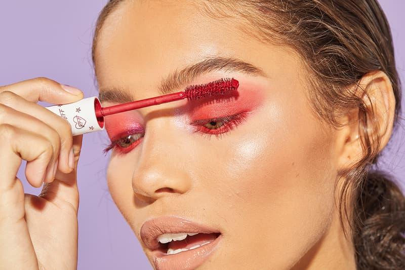 Colourpop bff mascara makeup cosmetics beauty model red