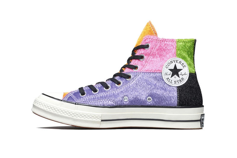 1a7b64c882d0 Converse Chuck Taylor All Star 70 Patchwork Fur Sneakers Trainers