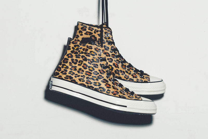 Converse Chuck Taylor All Star Leopard Print Fur High Top Sneakers
