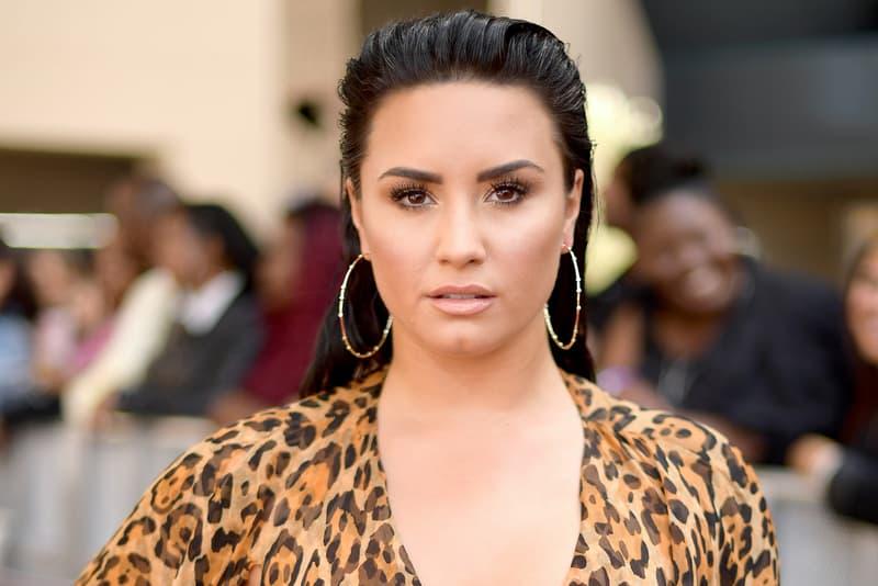 Demi Lovato 2018 Billboard Music Awards Leopard Print Dress Brown Black