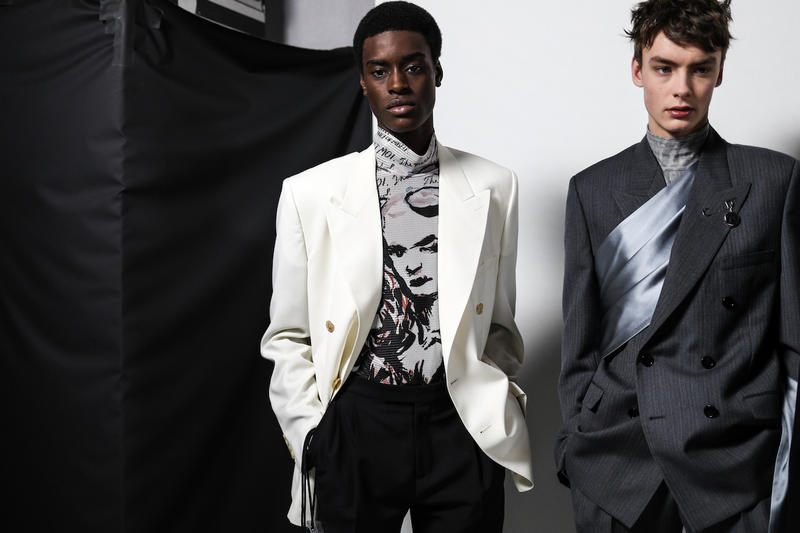 Backstage at Dior FW19 Paris Fashion Week Men's Kim Jones Matthew Williams Yoon Runway Suits Crowd Models Collection Behind the Scenes