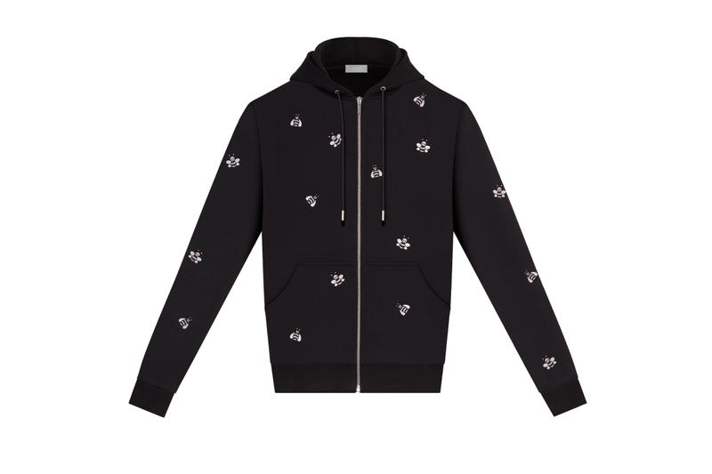 Kim Jones' KAWS x Dior Collection Available Now Shop Hoodies T-Shirt Print Embroidery Dior Bee