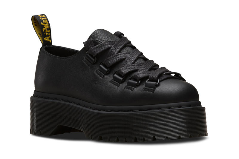 Dr. Martens Hardware Platform Boots Shoes Black Leather Caspian Sinclair Caraya Pisa