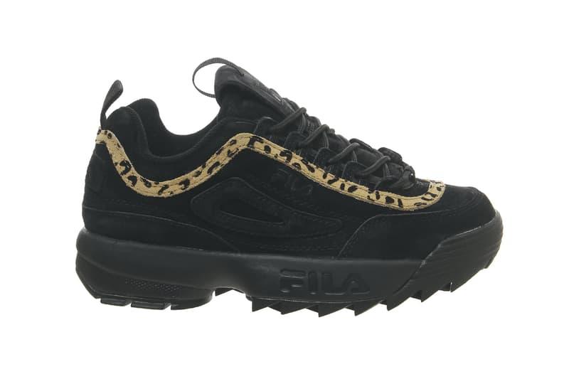 FILA Disruptor 2 Leopard Print in Black/White Sneaker Shoe Chunky Silhouette