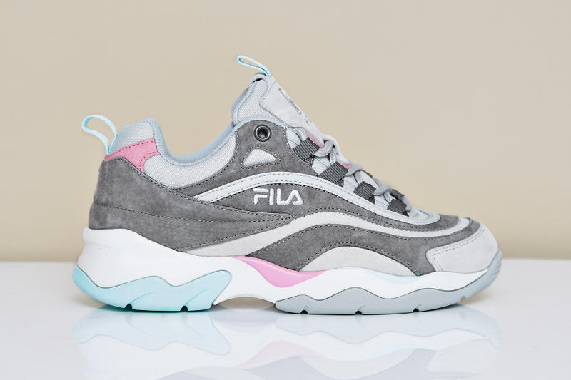 FILA Ray Ice Cream Pack Pastel Pink Lilac Sneakers Trainers OFFICE