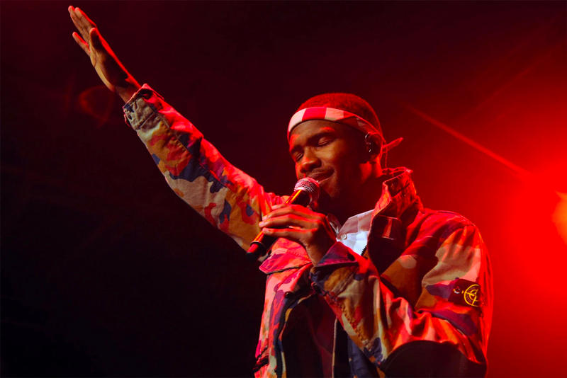 Frank Ocean Headband Singing Music Artist Stage Performance Performing Mic Microphone Red