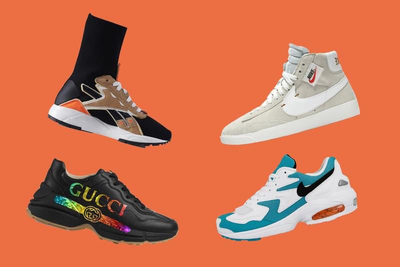 9c29c136087e Gucci Rhyton Black Victoria Beckham x Reebok Bolton Sock Sneaker Sahara Nike  Blazer Mid Off White
