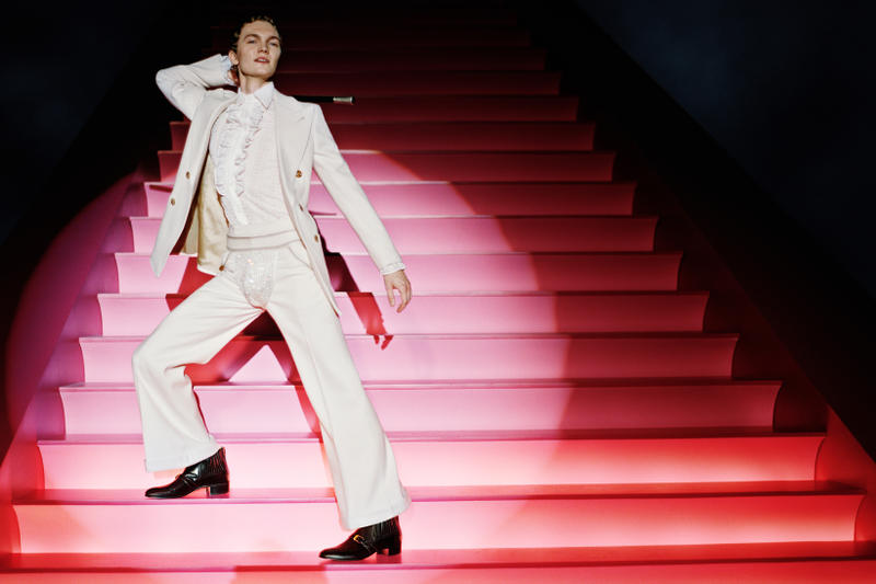 Gucci Spring Summer 2019 Campaign Suit White