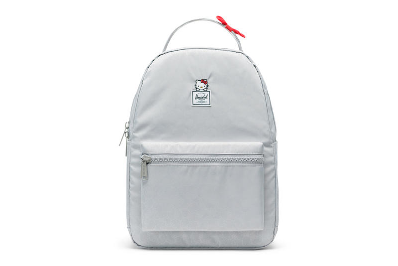 hello kitty herschel supply backpacks collaboration nova mid volume grey