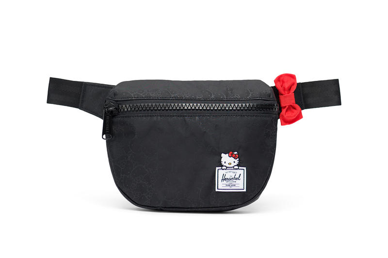 hello kitty herschel supply backpacks collaboration fifteen hip pack fanny pack black