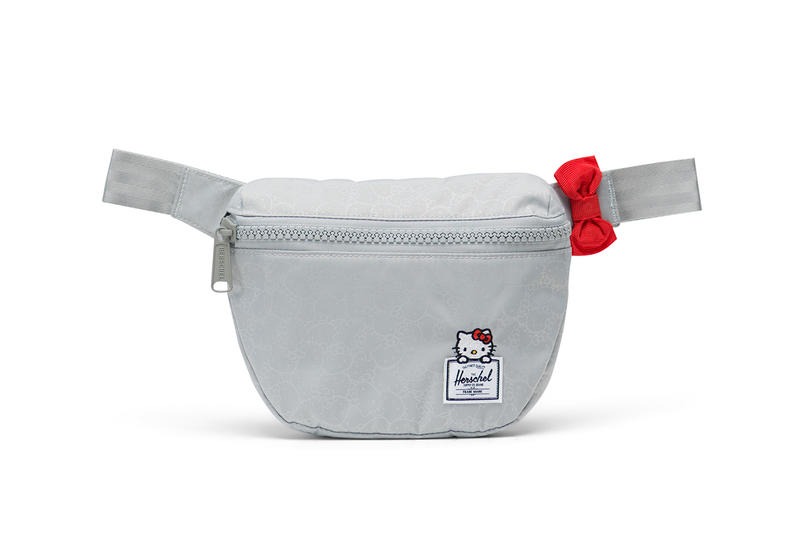 hello kitty herschel supply backpacks collaboration fifteen hip pack fanny pack grey