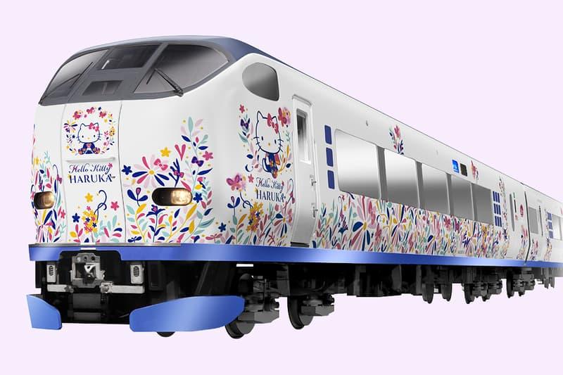 Hello Kitty Sanrio Haruka Train Kansai Airport Kyoto Japan