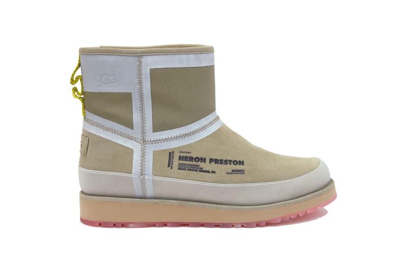 Heron Preston UGG Fall Winter 2019 Boots Classic Short Front Zip HP Tasman