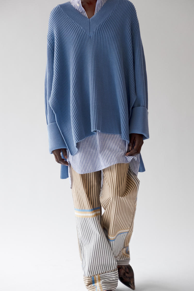 HOPE Pre Fall 2019 Lookbook Sweater Blue