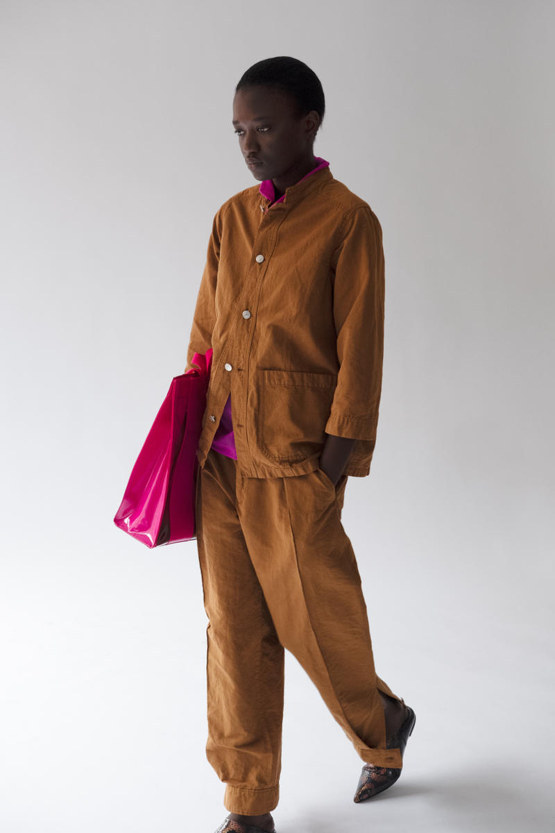 HOPE Pre Fall 2019 Lookbook Denim Shirt Pants Yellow