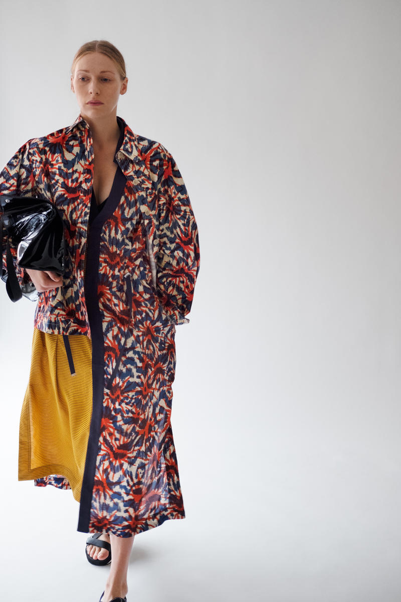HOPE Pre Fall 2019 Lookbook Floral Kimono Blue Red Yellow
