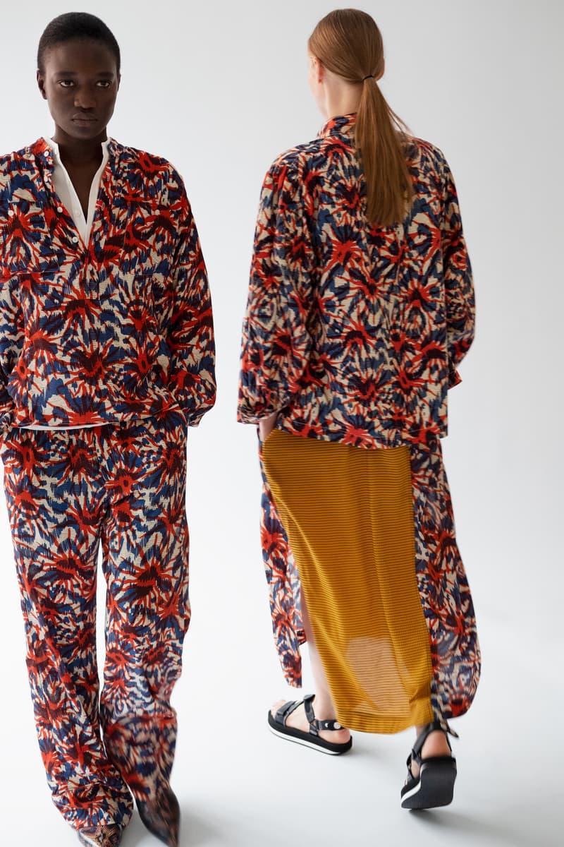 HOPE Pre Fall 2019 Lookbook Floral Blazer Pants Red Blue