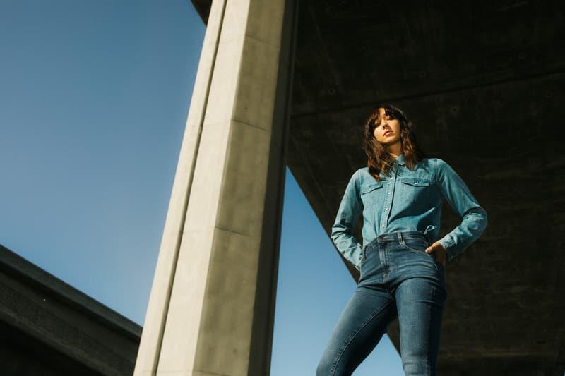 J Brand Spring 2019 Campaign Denim Shirt Jeans Blue