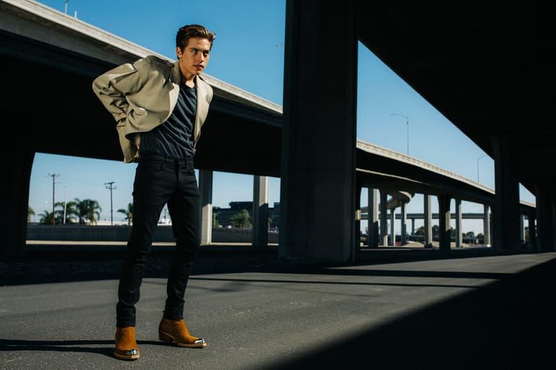 J Brand Spring 2019 Campaign Blazer Tan Jeans Blue