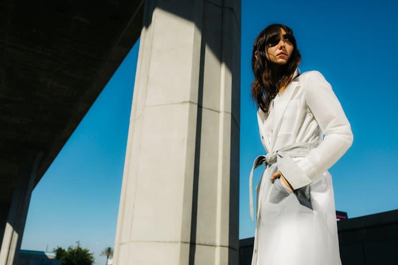 J Brand Spring 2019 Campaign Rain Coat Grey