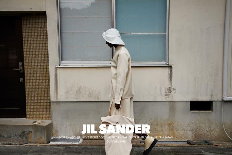 Jil Sander Spring Summer 2019 Campaign Top Hat Backpack Pants Tan