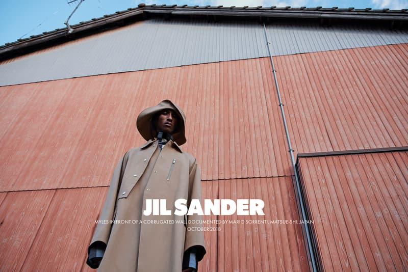 Jil Sander Spring Summer 2019 Campaign Jacket Hat Tan