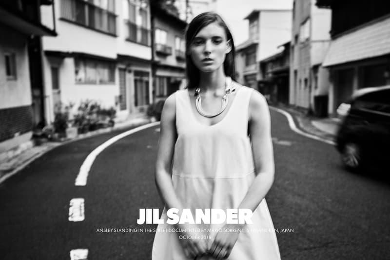 Jil Sander Spring Summer 2019 Campaign Dress Grey