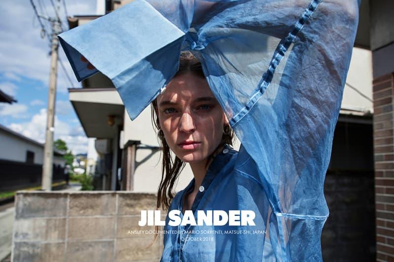Jil Sander Spring Summer 2019 Campaign Top Blue