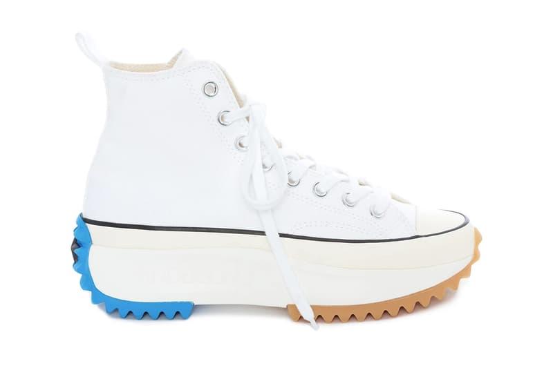 8eeb5bee7a9b JW Anderson SS19 Converse Run Star Hike in White Chunky Sole Platform Blue  Release Shoe Sneaker