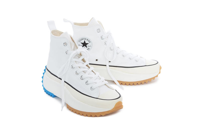 JW Anderson SS19 Converse Run Star Hike in White Chunky Sole Platform Blue Release Shoe Sneaker
