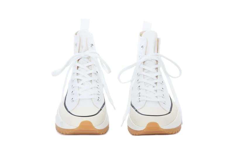 JW Anderson SS19 Converse Run Star Hike in White Chunky Sole Platform Blue Release Shoe Sneaker