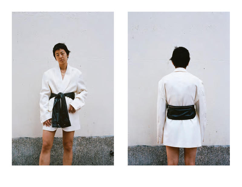 kara sarah law spring 2019 lookbook collection wearable handbags clothing shirt bag waistbag puffer tote leather lambskin