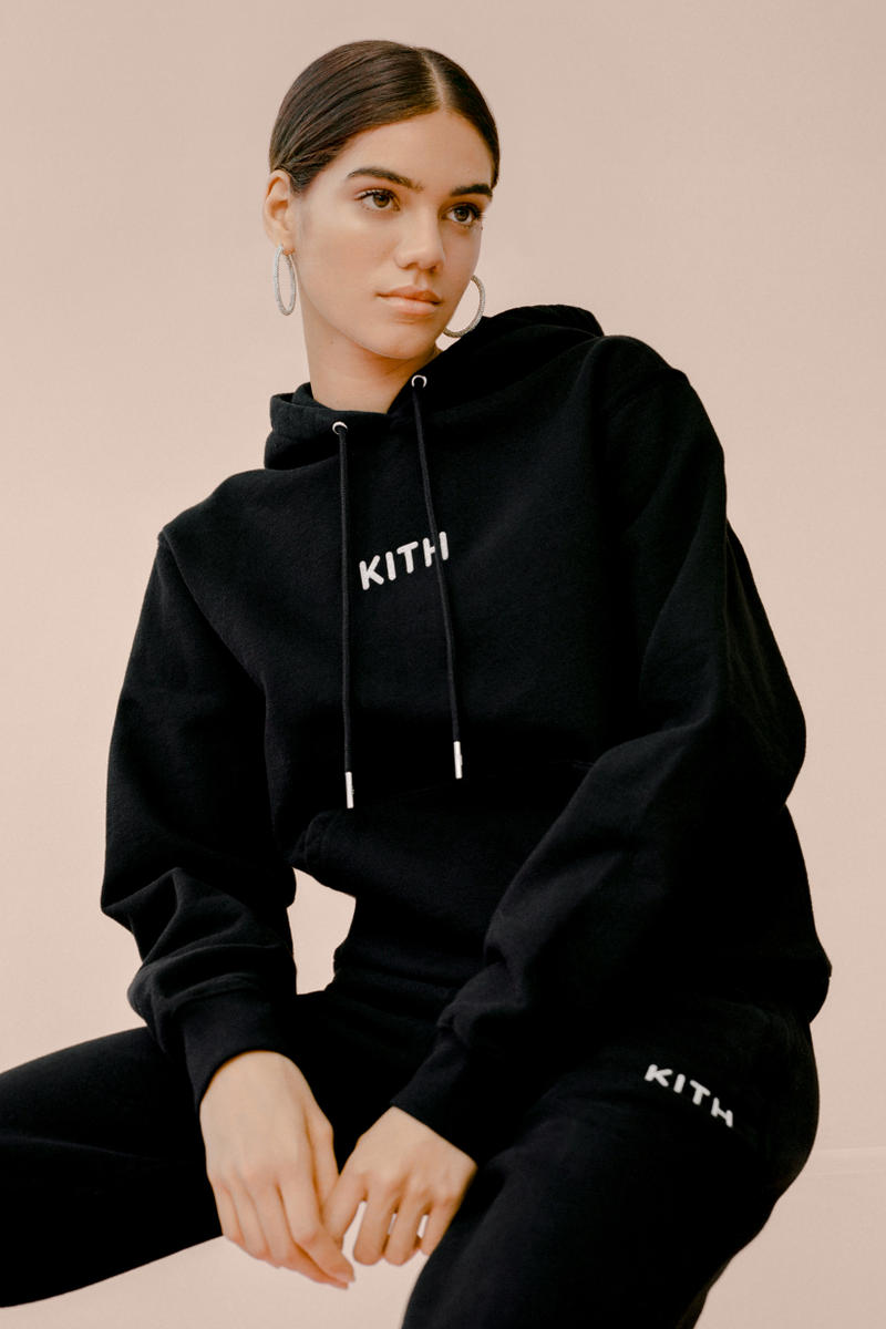 kith Women Glitter Hoodie Sweatpants Black
