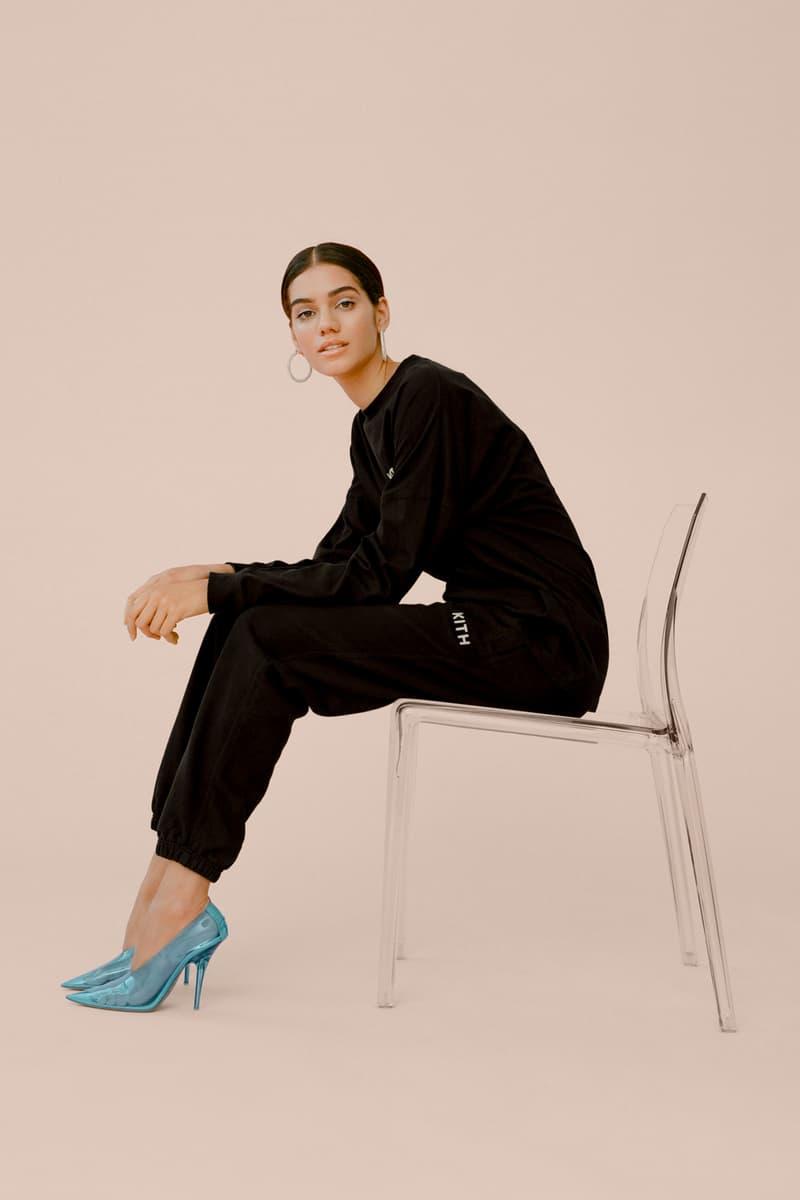 kith Women Glitter Shirt Sweatpants Black