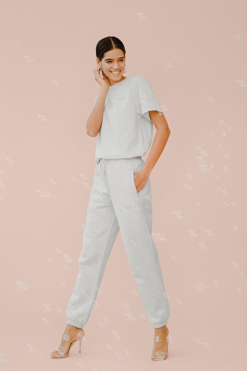 kith Women Glitter Shirt Sweatpants Heather Grey
