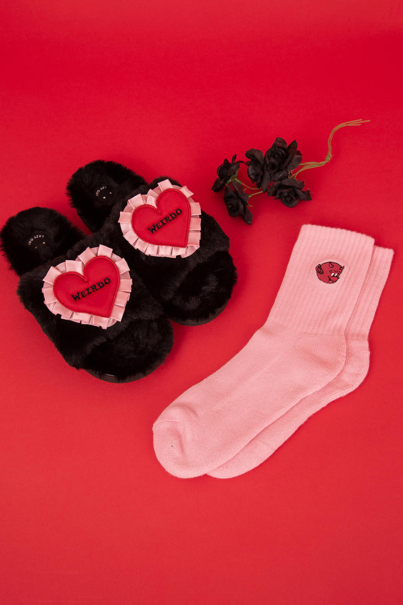 Lazy Oaf Valentine's Day Capsule Collection Red Pink Roses Graphic Pieces