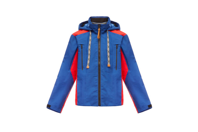 LOEWE Eye Nature Collection Jacket Blue Red