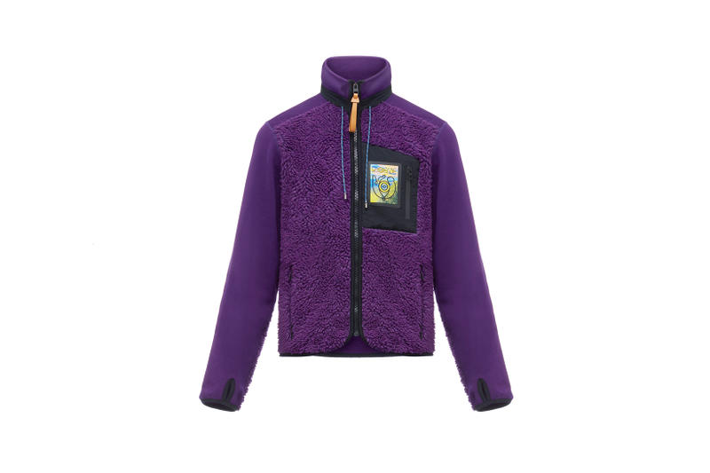 LOEWE Eye Nature Collection Fleece Jacket Purple